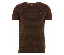 Male T-Shirt braun / schwarz