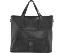 Marco Polo Shopper Tasche Leder 39 cm schwarz