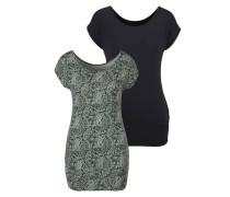 Shirt nachtblau / oliv