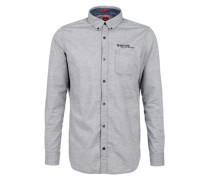 Hemd mit Zickzack-Muster grau