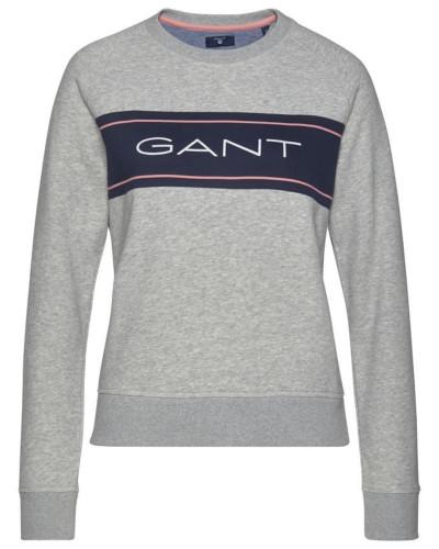 Sweatshirt navy / graumeliert / pink