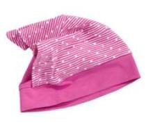 Gepunktetes Kopftuch mit Mütze pink