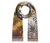 Schal mit trendigem Animal-Print aus Modal und Seide