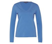 Feinstrickpullover mit V-Ausschnitt 'new Ivy' blau