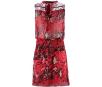 Minikleid Damen rot / schwarz / weiß