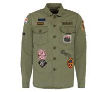 Hemd IM Military-Look grün