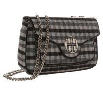 City Shoulder Bag mit Tragekette grau / schwarz