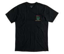 T-Shirt »Live Peacefully« grau