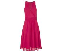 Schulterfreies Mesh-Kleid pink