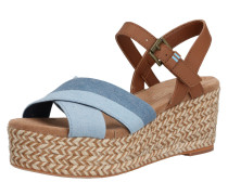 Sandale 'willow' braun / navy