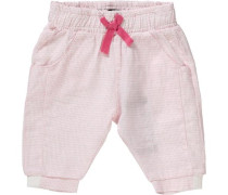 Baby Stoffhose aus Leinen für Mädchen rosa
