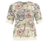 Shirt aus Seide ecru / mischfarben
