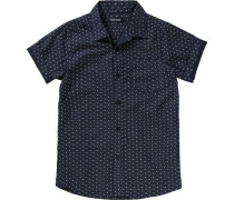 Gemustertes Hemd nachtblau