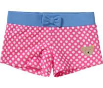 Baby Badehose mit UV-Schutz für Mädchen hellblau / pink / weiß