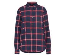 Bluse nachtblau / rot