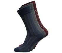 Socken 3er-Pack navy / grau / dunkelrot