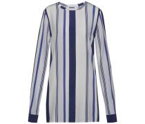 Bluse »Norma TOP LS« blau / grau