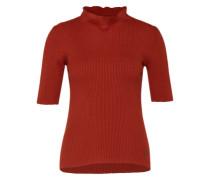 Shirt mit kurzen Ärmeln 'Margit' rostrot