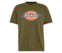 T-Shirt blau / gelb / oliv