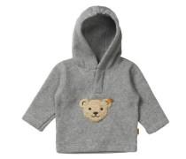 Fleece-Pullover mit Kapuze Jungen / Mädchen Kinder graumeliert