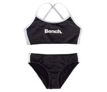 Bustier-Bikini schwarz
