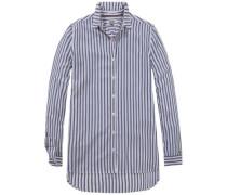 Bluse 'thdw Stripe Shirt L/S 30' navy / weiß