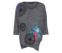 Shirt 'ts_Elqui' himmelblau / graumeliert / himbeer