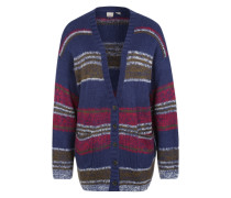 Boyfriend-Cardigan 'Sunrise to Sunset' blau / oliv / beere