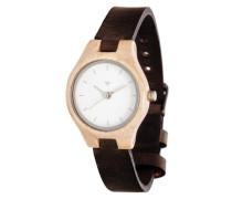 Uhr 'Adelheid Maple' beige / schwarz