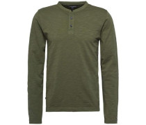 Langarmshirt 'gmd Henley L/S VF' khaki / oliv