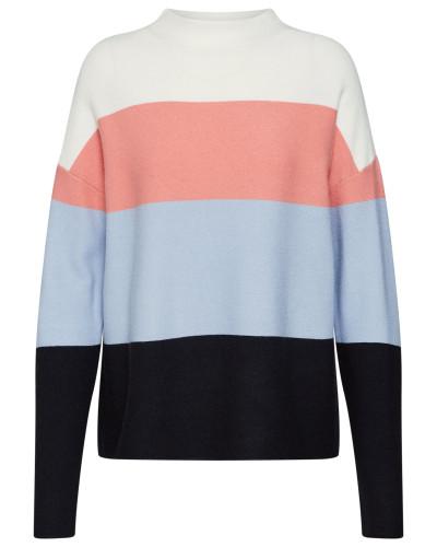 Pullover blau / opal / rosa