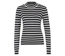 Feinstrickpullover 'Glory Stripes' schwarz