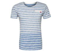 T-Shirt 'T Squeeze round' blau / weiß