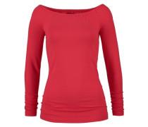 Shirt mit Carmen-Ausschnitt rot