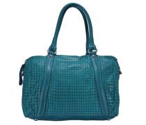 Agave Handtasche Leder 27 cm blau