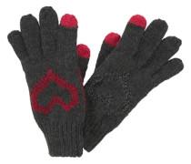 Strickhandschuhe grau / rot