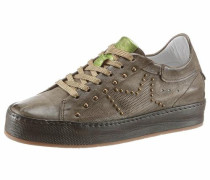 Sneaker gold / khaki / hellgrün