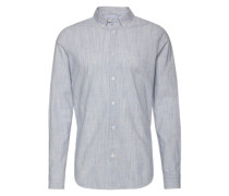 Hemd 'slub stripe shirt' hellblau / weiß