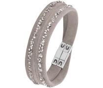 Armband zum Wickeln grau