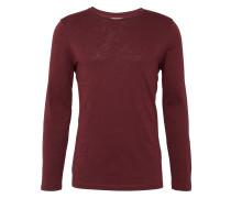 Shirt 'slub longsleeve' weinrot
