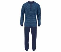 Pyjama lang im modischem Streifendesign