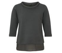 Interlock-Shirt mit Steppmuster schwarz