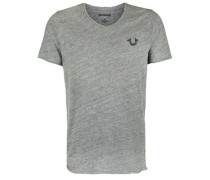 T-Shirt V Neck grau