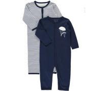 Schlafanzug 2er-Pack blau
