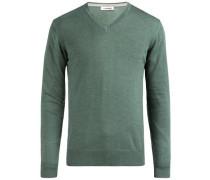 'Lymann True' Merino-Strickpullover smaragd