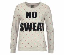 Sweatshirt 'Lulla' graumeliert / rot / schwarz