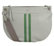 Schultertasche 'Rhonda 1' grau / grün