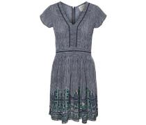 Kleid mit kurzen Ärmeln taubenblau