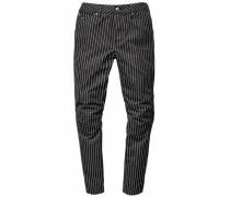 Boyfriend-Jeans 'Elwood 5622 3D mid boyfried Coj' schwarz / weiß