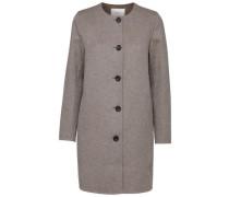 Woll-Mantel beige